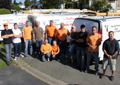 Fire Busters Vancouver, Burnaby, Delta, group picture , call us today