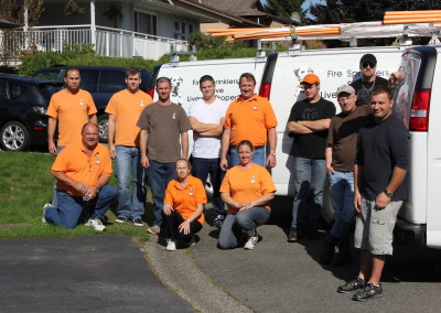 Fire Busters Vancouver, Burnaby, Delta, group picture, call us today